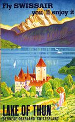 Moos Carl - Lake of Thun - fly Swissair